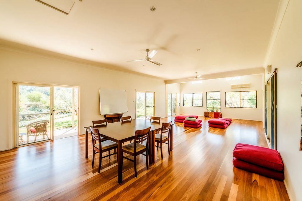 North-Farm-Retreat-the Hall, Bellingen, NSW. Retreats for up to 20 people.